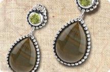 Sterling American multi-gemstone earrings