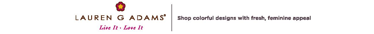 Lauren G Adams.  Shop colorful designs with fresh, feminine appeal.
