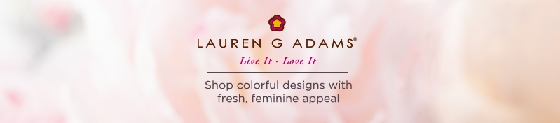 Lauren G Adams.  Shop colorful designs with fresh, feminine appeal.