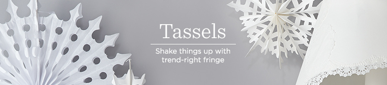 Tassels, Shake things up with trend-right fringe