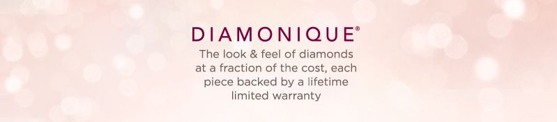 Diamonique®, The look & feel of diamonds at a fraction of the cost, each piece backed by a lifetime limited warranty
