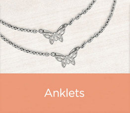 Anklets Stainless Steel Cutout Butterfly Station Ankle Bracelet