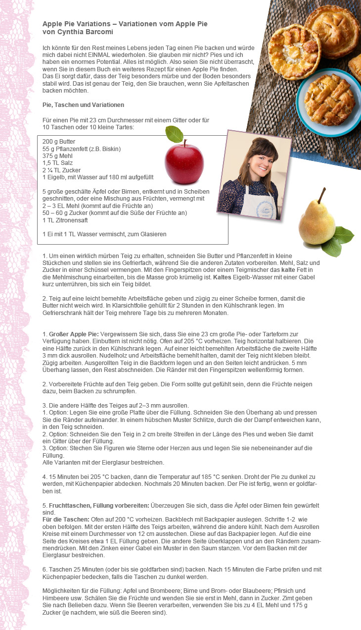Rezept Apple Pie Variationen