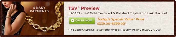 Polished & Textured Status Link Rolo Bracelet, 14K Gold