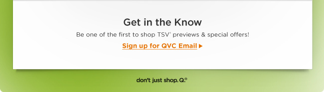 Stay in the Know with QVC Email