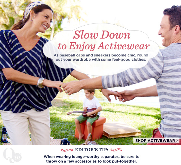 Slow Down to Enjoy Activewear