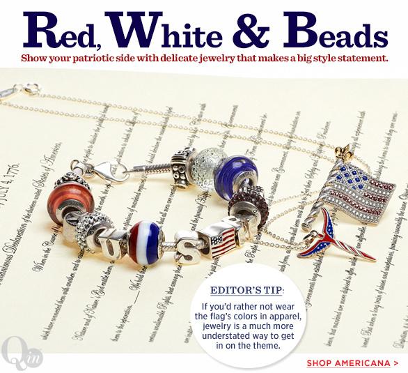 Red, White & Beads