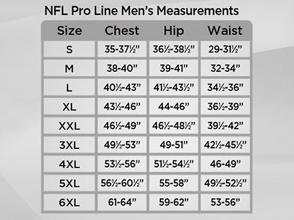 A225951 - Mens Size Chart