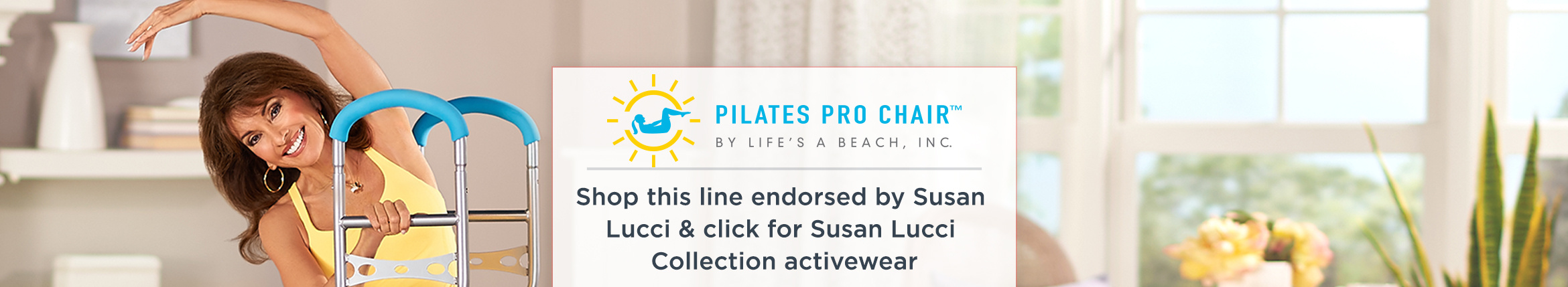 Shop this line endorsed by Susan Lucci & click for Susan Lucci Collection activewear