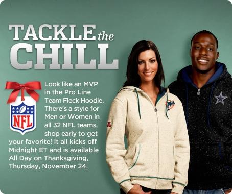 Choice of Men's or Women's NFL Pro Line Team Fleck Hoodie