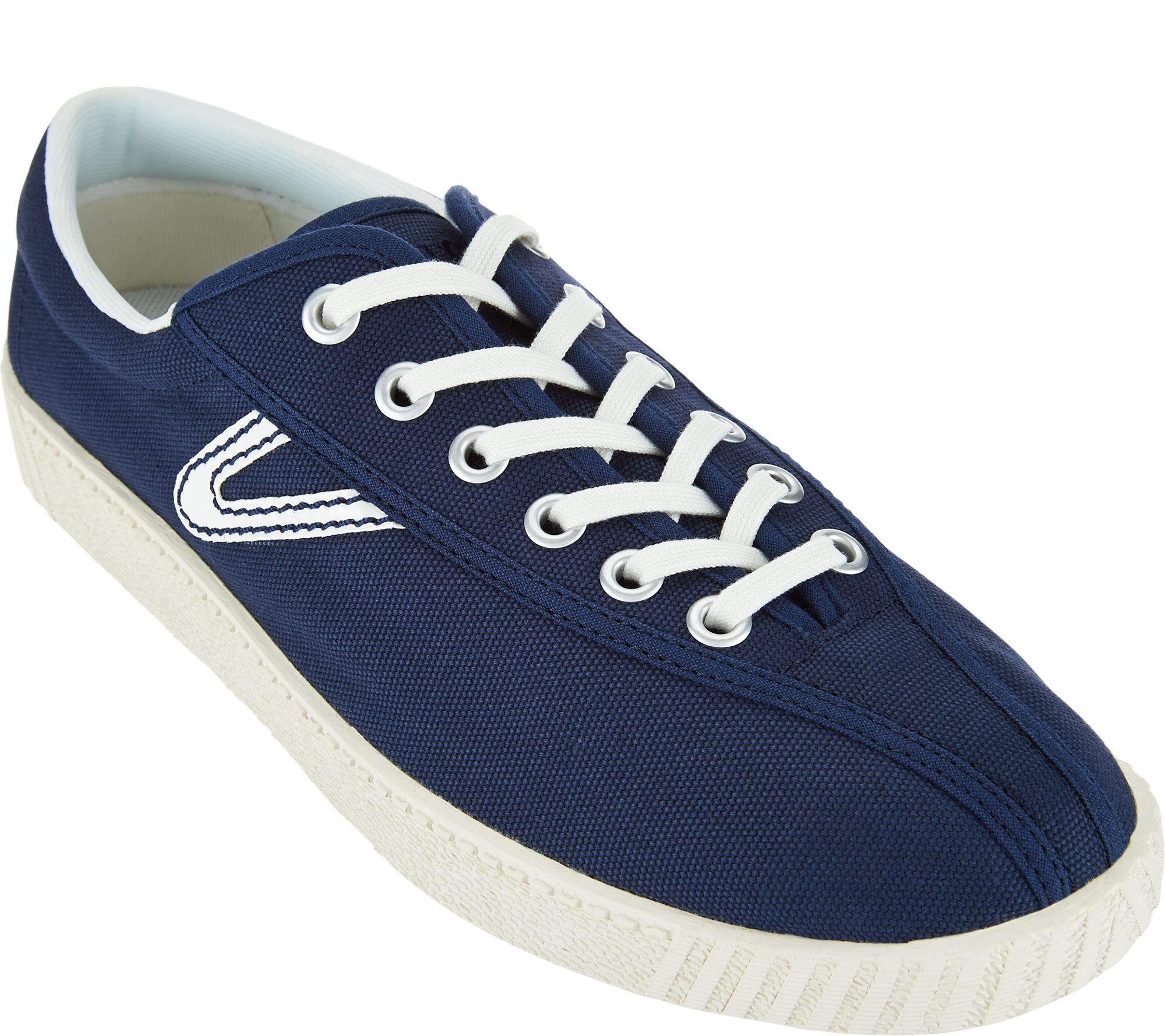 tretorn canvas lace up sneakers nylite qvc