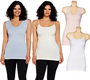 Skinnytees Set of 4 Seamless Tanks and Camis - S8704
