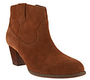 Vionic Orthotic Windom Leather Ankle Boots - S8906