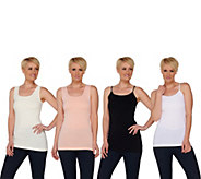 Skinnytees Set of 4 Seamless Tanks and Camis - S8208
