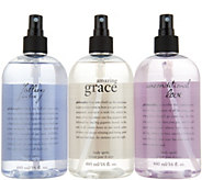 philosophy grace & love body spritz 16 oz trio - S9008