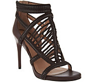BCBGMaxazria Braided Leather Caged Sandals- Dori - S8420