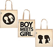 Boy Meets Girl Set of 3 Totes - S8324