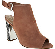 Guess Geogia Brown Studded Suede Booties - S8825