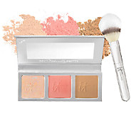 IT Cosmetics CC Radiance Palette with Airbrush Powder Brush - S8228