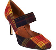 Ann Marino by Bettye Muller Tone Plaid Pumps - S8328
