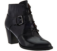 Sofft Lace Up Ankle Booties w/Buckled Strap - Wendy - S8529