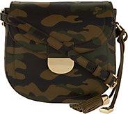 G.I.L.I Leather Printed Saddle Bag - S8733