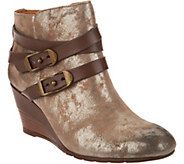 Sofft Oakes Wraparound Buckle Wedge Booties - S8935