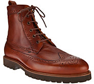 Vince Camuto Mens Wingtip Leather Boots - Leep - S8436