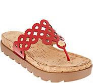Eric Javits Donut Cutout Platform Sandals - S8945