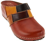 LArtiste Spring Step Painted Leather Clog -Ridgeview-B - S8447