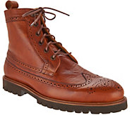Vince Camuto Leep Mens Wingtip Lace Up Boots - S8847