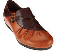 LArtiste_ by Spring Step Ruched Leather Loafer- Clove - S8448