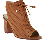 Sam Edelman Open-Toe Perforated Lace-up Booties - Ennette - S8550