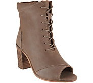 Seychelles Stun Lace Up Peep Toe Booties - S8756