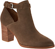 Via Spiga Samantha Block Heel Cut Out Booties - S8857