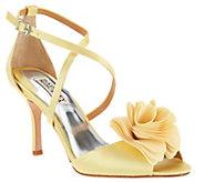 Badgley Mischka Strappy Flower Evening Sandals- Gaby - S8560