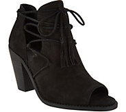 Jessica Simpson Ceri Lace Up Open Toe Booties - S8765