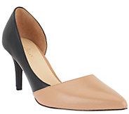 Cole Haan Highline Dual-Tone Pointed Toe Leather Pumps - S7669