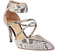 Cole Haan Trella Leather Snake Print Pumps - S7670