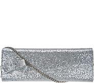 J. Renee Silver Glitter Fabric Clutch - S8871