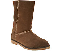 Coolway Suede Boots with Faux Sherpa- Azalea - S8578