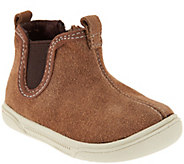 Stride Rite Suede Pull-On Baby Booties- Lil Tabor - S8584