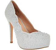De Blossom Collection Rhinestone Platform Pumps - S8285