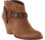 Yellow Box Western Booties with Strap Detail - Mandy - S8487