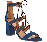 DAYA by Zendaya Meadow Lace Up Fringe Heels - S8788