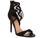 Daya by Zendaya Peep Toe Lace Up Heels -Anderson - S8489