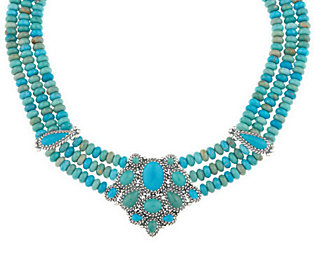 Carolyn Pollack Sterling Jewerly 14 Turquoise Necklace