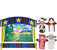 Melissa & Doug Tabletop Puppet Theater w/ 4 Hand Puppets - T34202