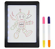 GlowPad XL 8x11 Pad w/ 4 Neon Markers and 8 LED Light Modes - T35202