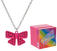 Jojo Siwa Pave Rhinestone Bow Necklace with Singing Music Box - T35205